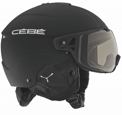 Přilba CEBE ELEMENT VISOR MATT BLACK SILVER 17/18