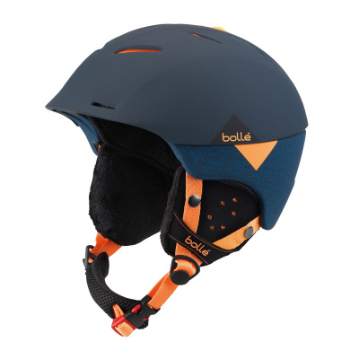 Lyžařská helma BOLLE SYNERGY soft navy orange 2018