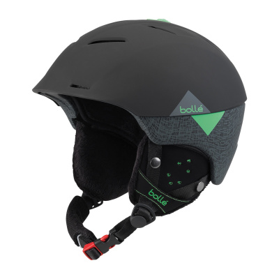 Lyžařská helma BOLLE SYNERGY soft black green 2018
