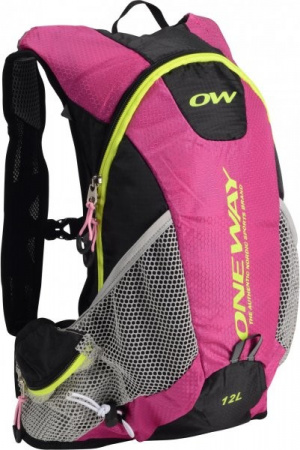 detail Batoh ONE WAY RUN hydrobackpack 12l pink/black